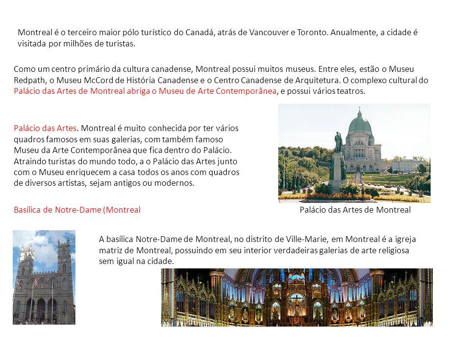 Montreal é o terceiro maior pólo turístico do Canadá, atrás de Vancouver e Toronto. Anualmente, a cidade é visitada por milhões de turistas.