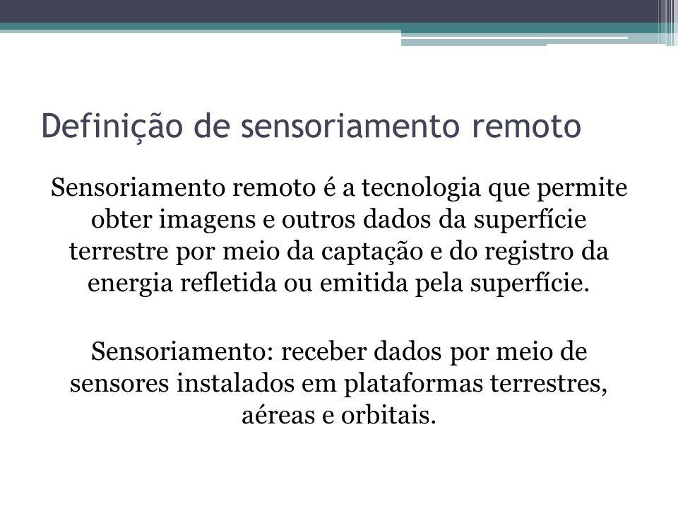 Definição de sensoriamento remoto