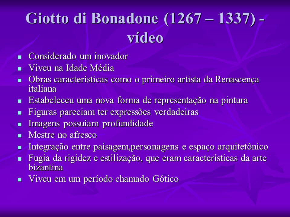 Giotto di Bonadone (1267 – 1337) - vídeo