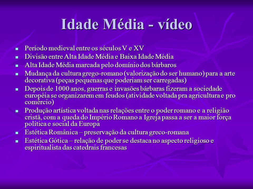 Idade Média - vídeo Período medieval entre os séculos V e XV