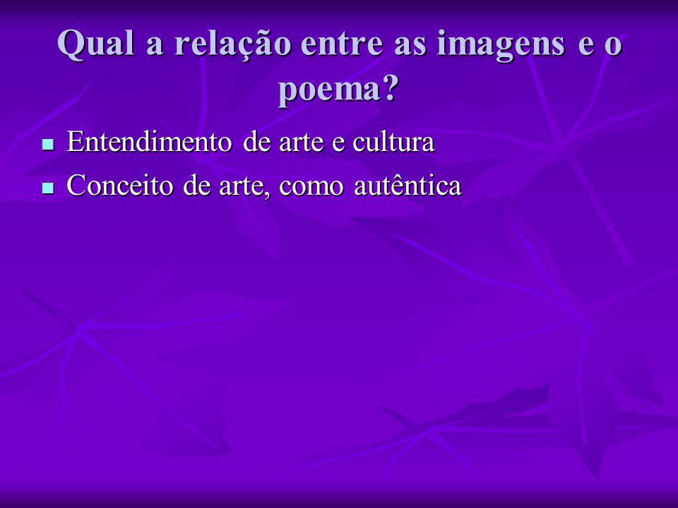 Qual a relação entre as imagens e o poema