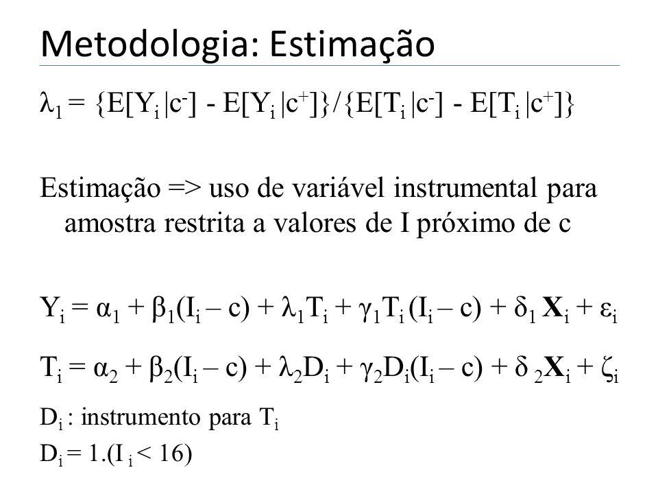 Metodologia: Estimação