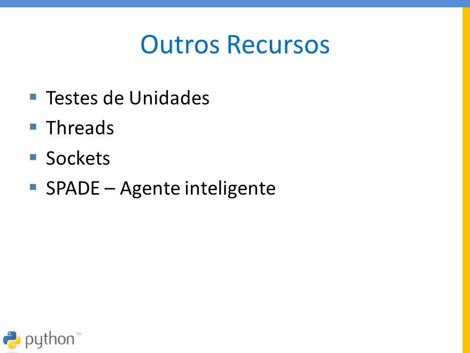 Outros Recursos Testes de Unidades Threads Sockets