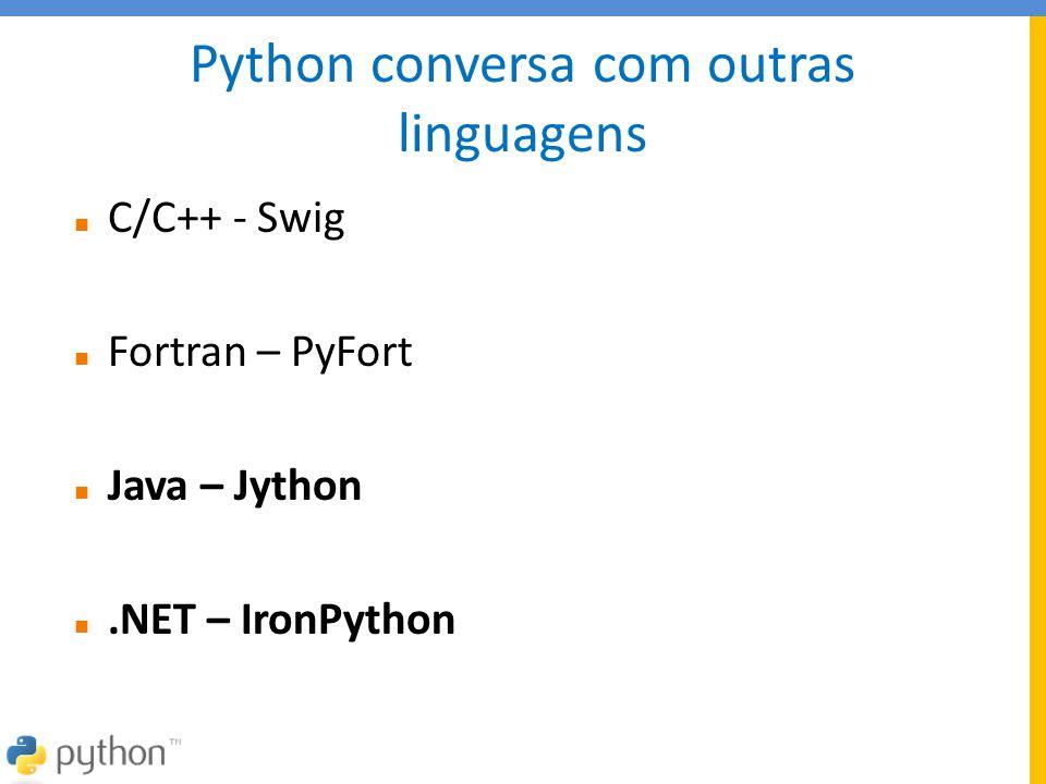Python conversa com outras linguagens