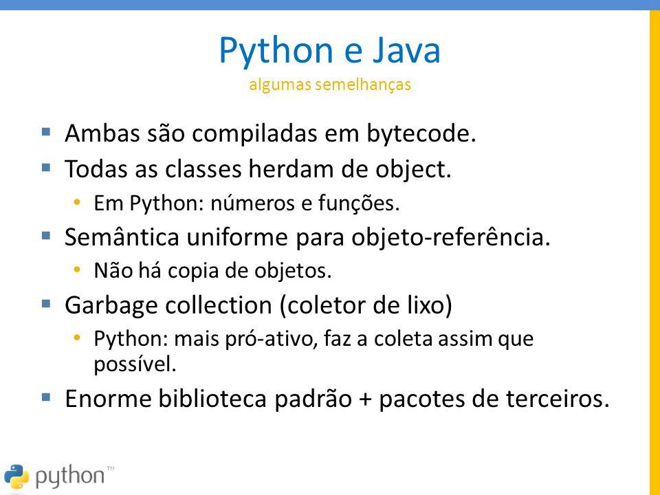 Python e Java algumas semelhanças