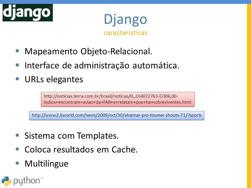 Django Mapeamento Objeto-Relacional.