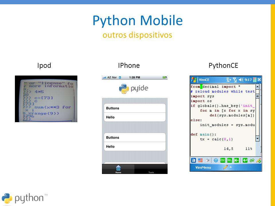 Python Mobile outros dispositivos