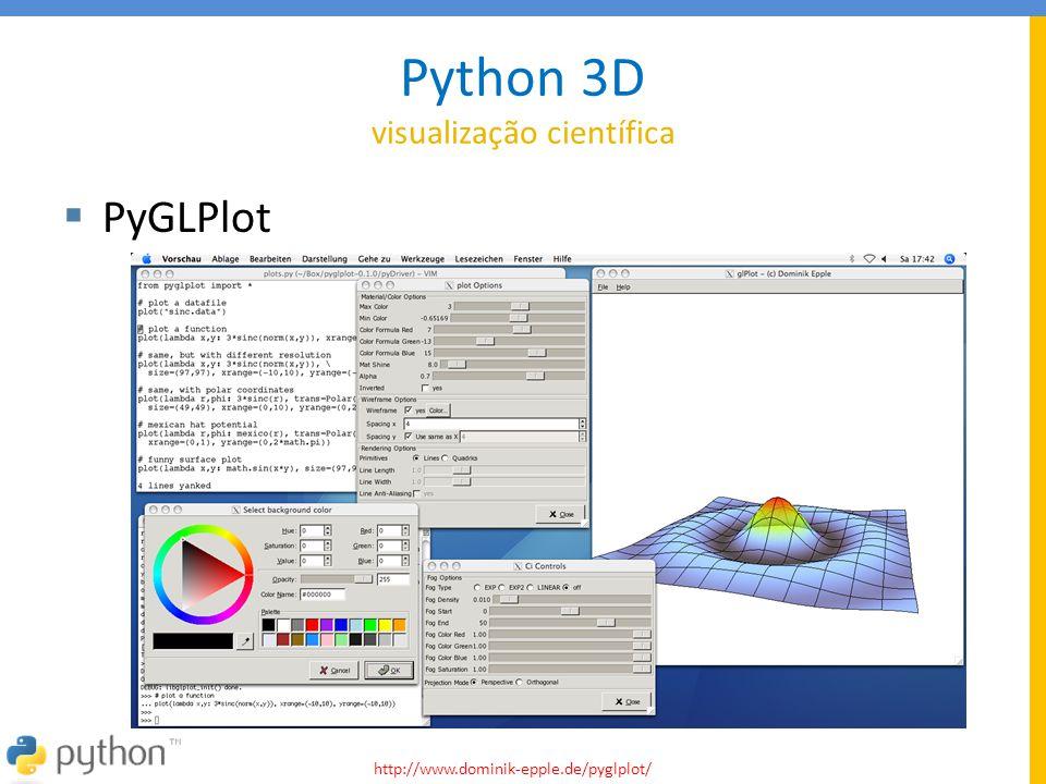 Python 3D visualização científica