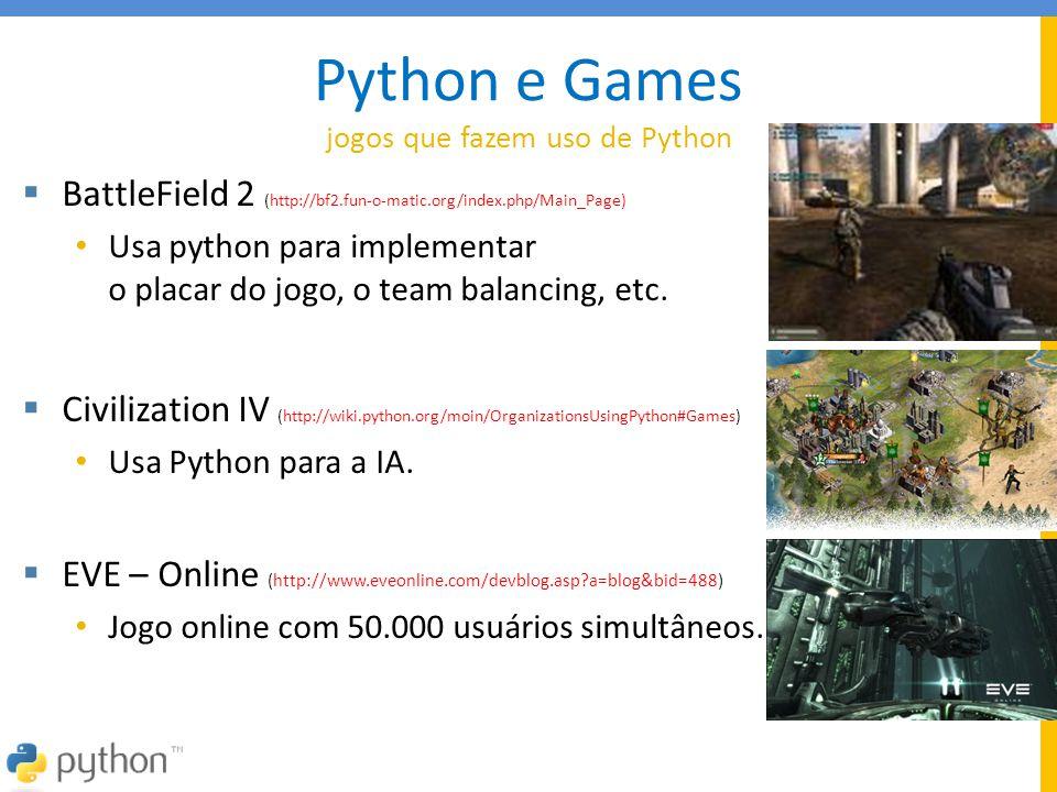 Python e Games jogos que fazem uso de Python