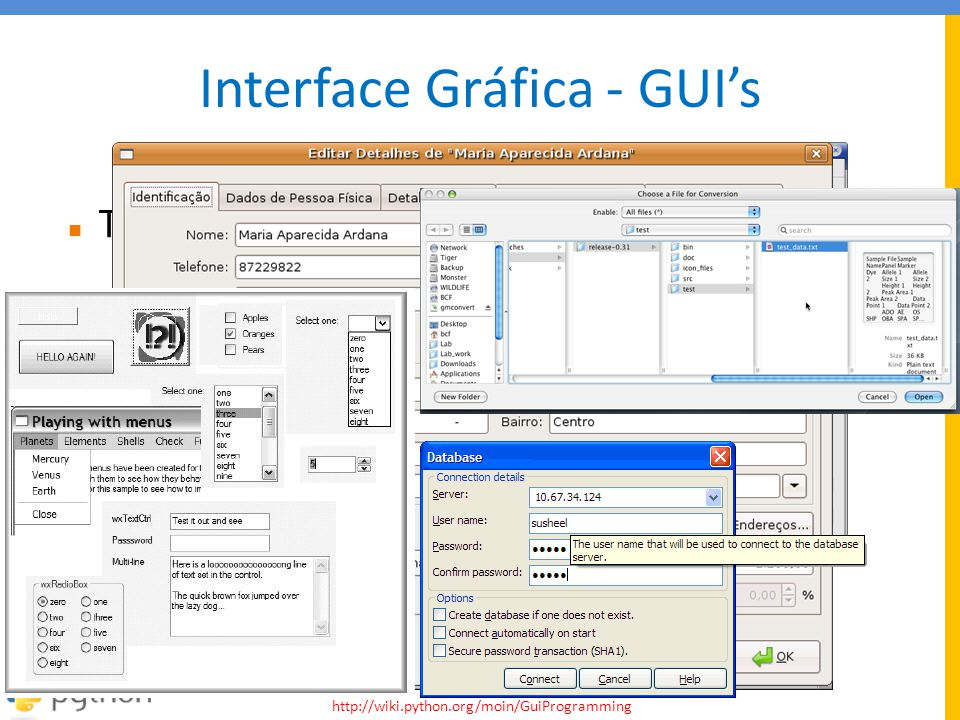 Interface Gráfica - GUI's