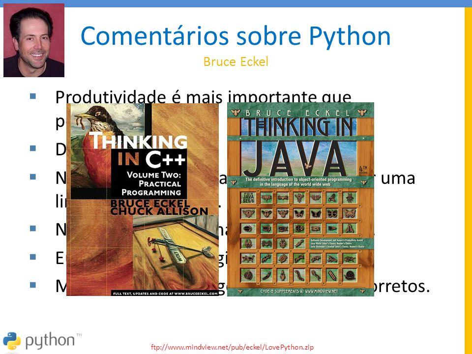 Comentários sobre Python Bruce Eckel
