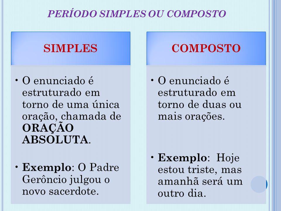 PERÍODO SIMPLES OU COMPOSTO