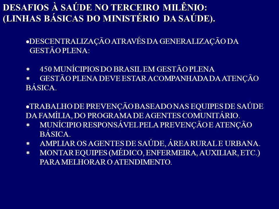 DESAFIOS À SAÚDE NO TERCEIRO MILÊNIO: