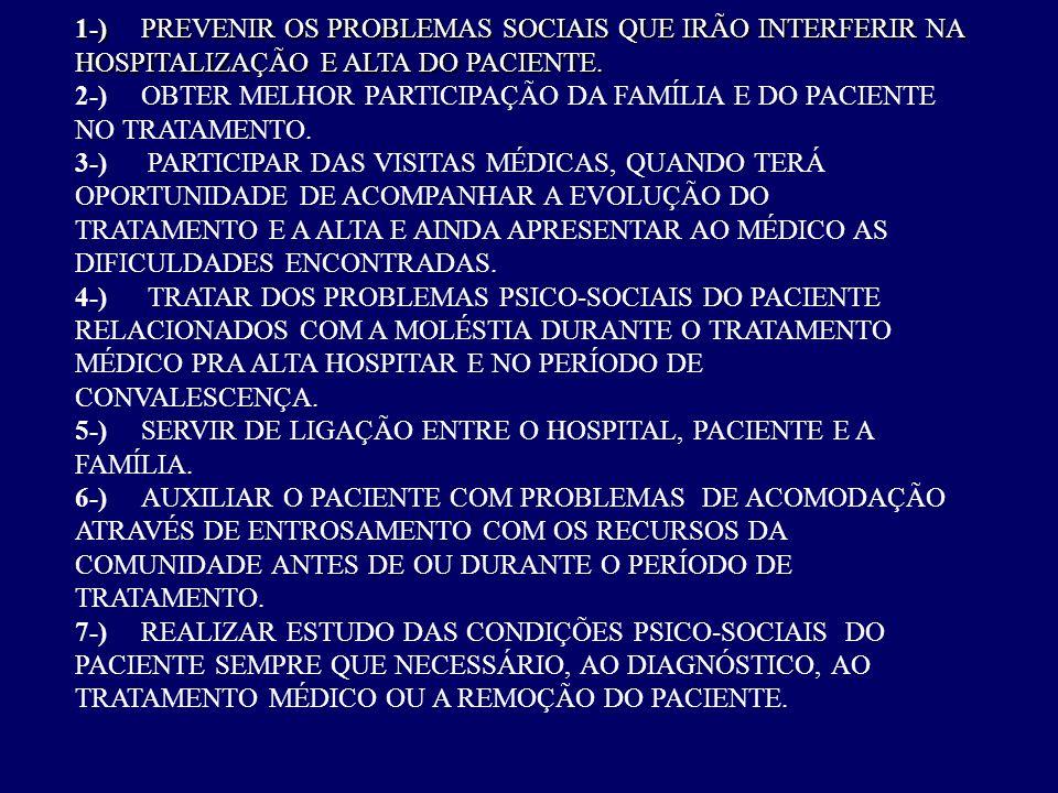 1-). PREVENIR OS PROBLEMAS SOCIAIS QUE IRÃO INTERFERIR NA