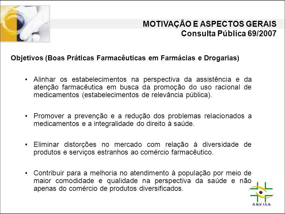 MOTIVAÇÃO E ASPECTOS GERAIS Consulta Pública 69/2007