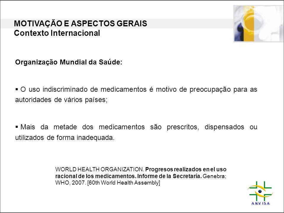 MOTIVAÇÃO E ASPECTOS GERAIS Contexto Internacional
