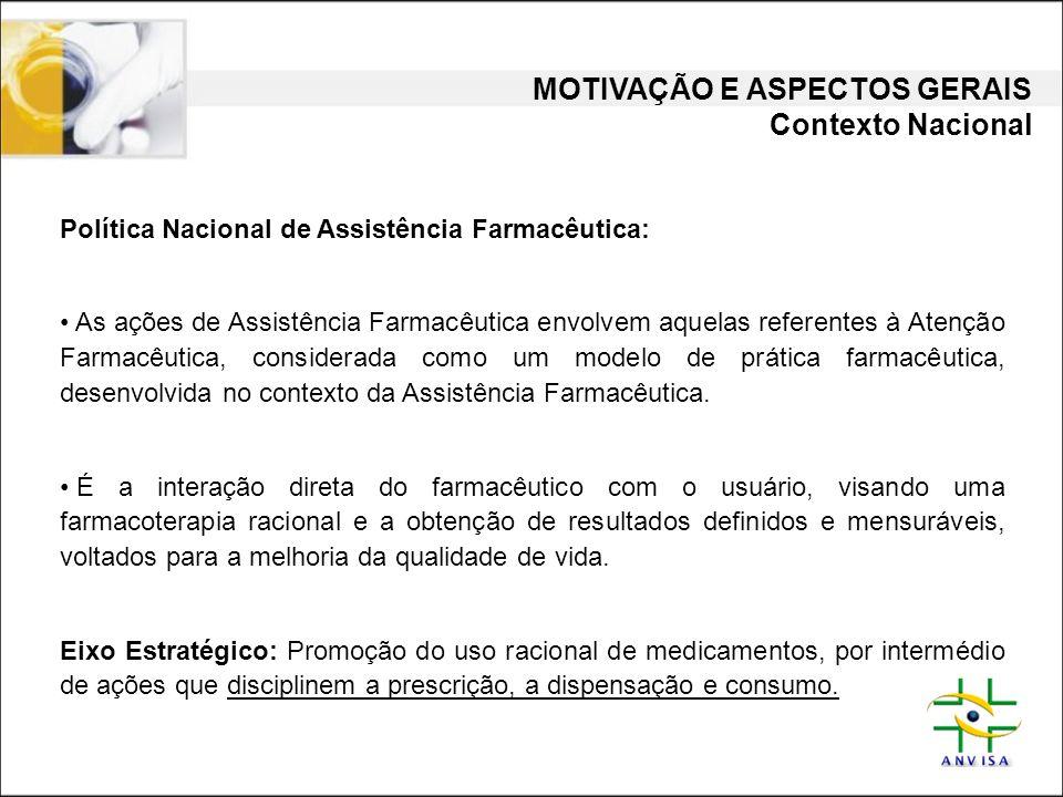 MOTIVAÇÃO E ASPECTOS GERAIS Contexto Nacional