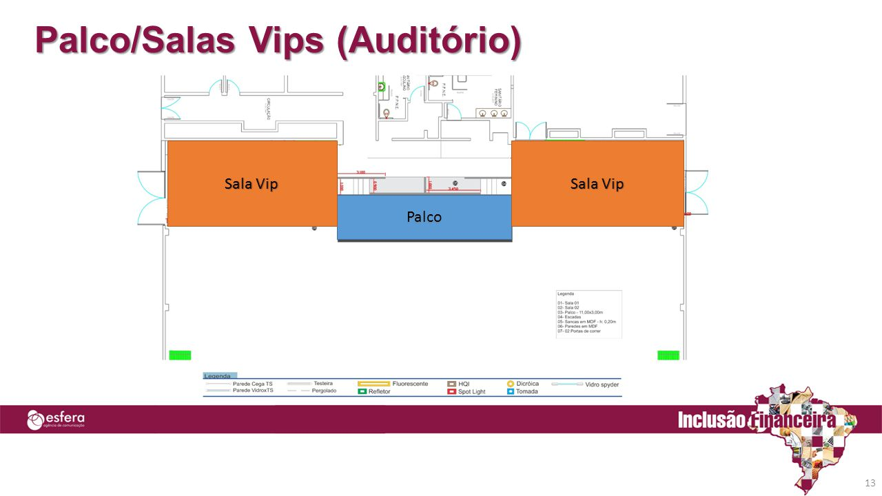 Palco/Salas Vips (Auditório)