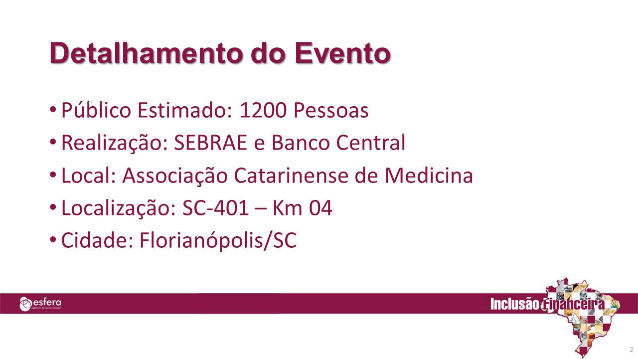 Detalhamento do Evento