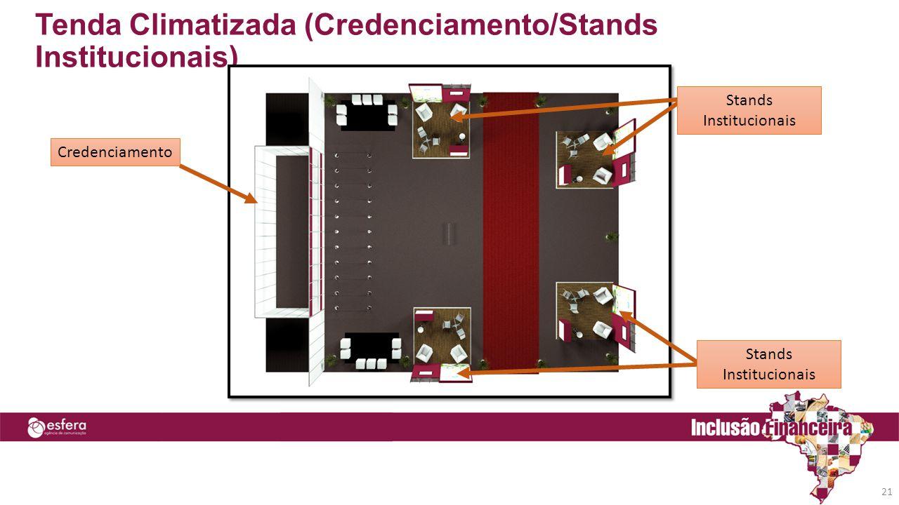 Tenda Climatizada (Credenciamento/Stands Institucionais)