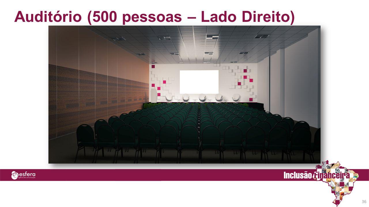 Auditório (500 pessoas – Lado Direito)