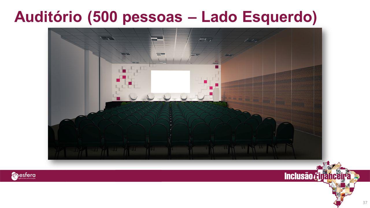 Auditório (500 pessoas – Lado Esquerdo)