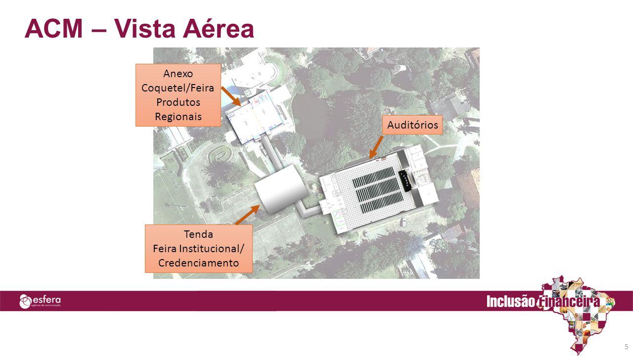 ACM – Vista Aérea Anexo Coquetel/Feira Produtos Regionais Auditórios