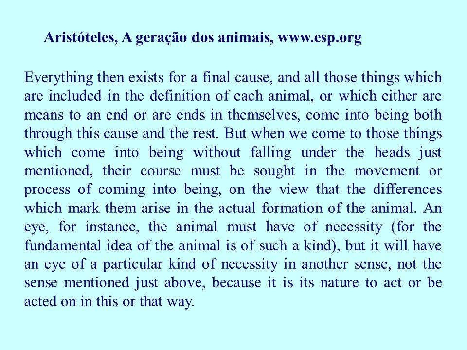 Aristóteles, A geração dos animais, www.esp.org