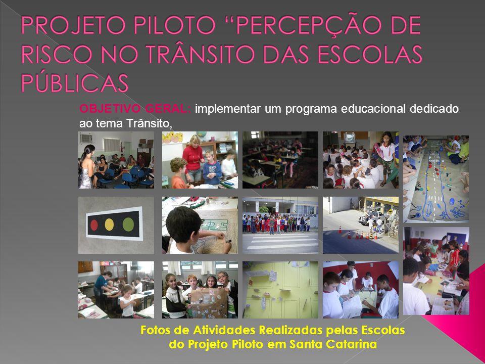 Projeto Piloto Percepção de Risco no Trânsito das Escolas Públicas