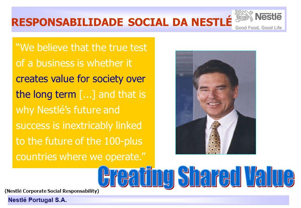 (Nestlé Corporate Social Responsability)