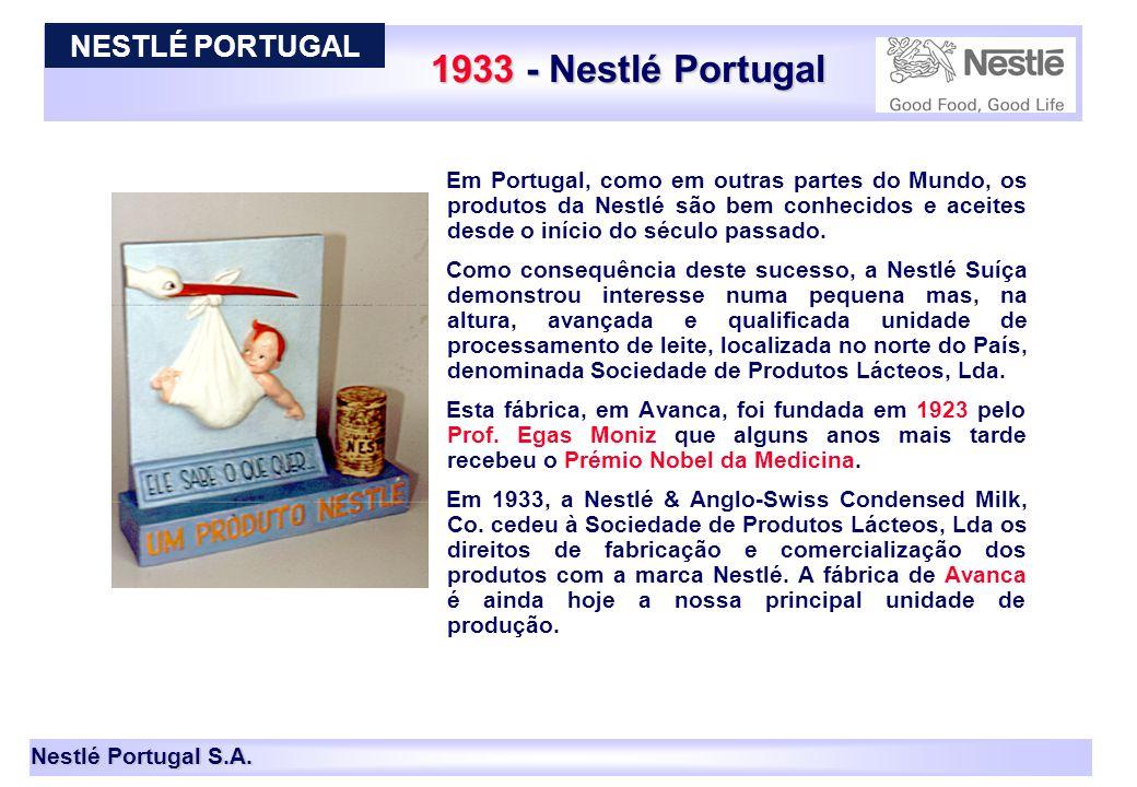 1933 - Nestlé Portugal NESTLÉ PORTUGAL