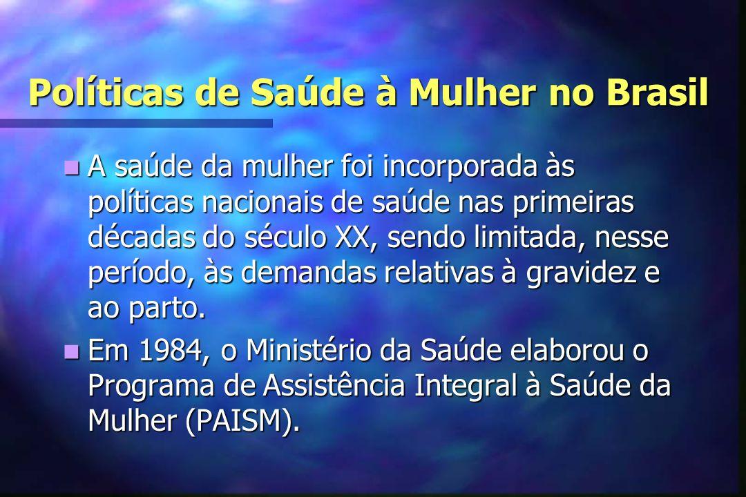 Políticas de Saúde à Mulher no Brasil