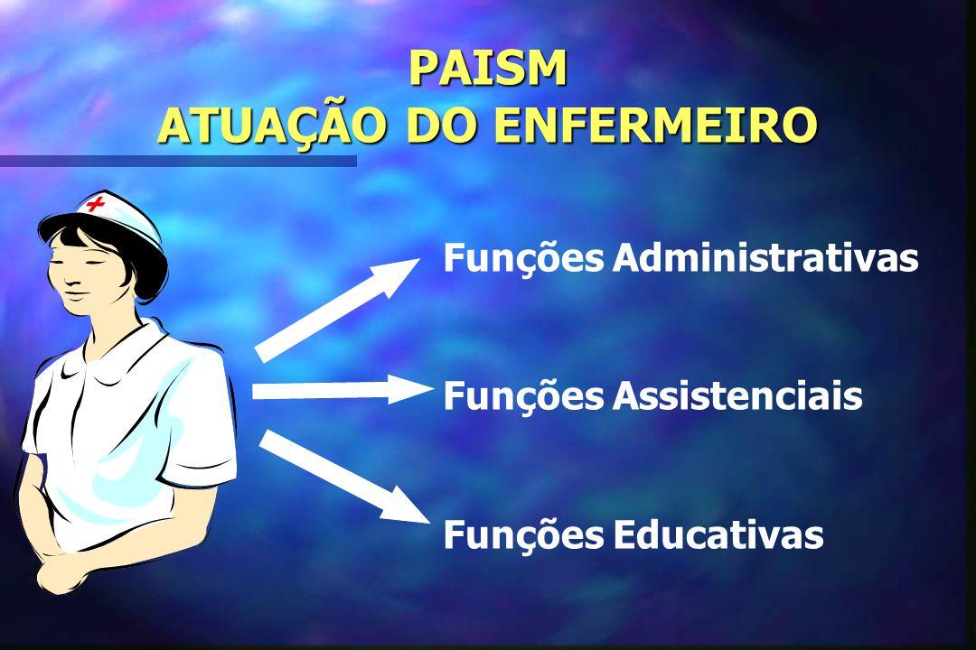 PAISM ATUAÇÃO DO ENFERMEIRO