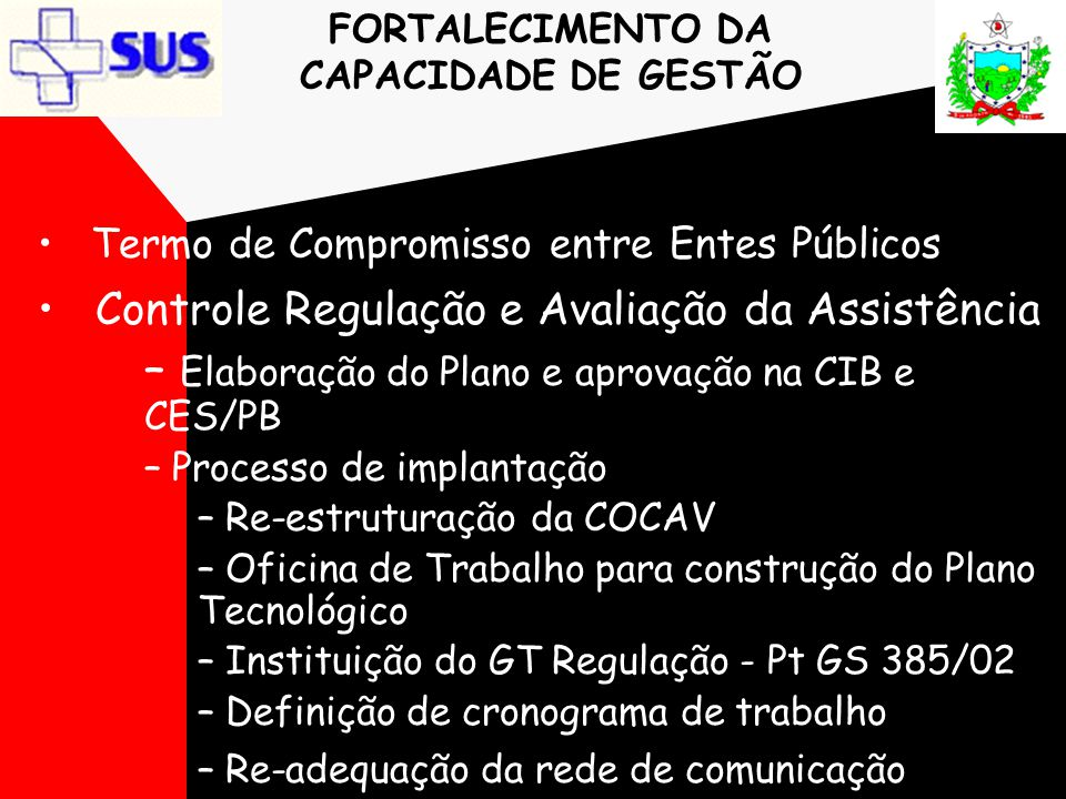 FORTALECIMENTO DA CAPACIDADE DE GESTÃO