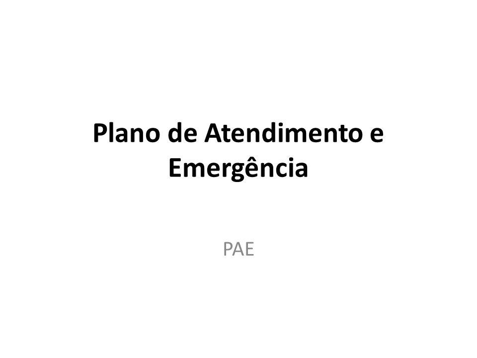 Plano de Atendimento e Emergência