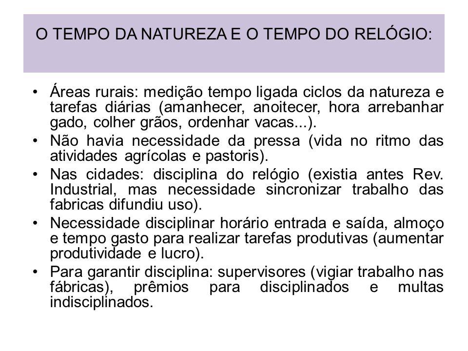 O TEMPO DA NATUREZA E O TEMPO DO RELÓGIO: