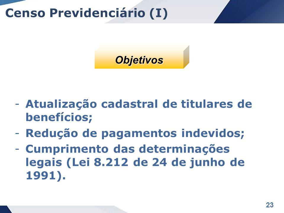 Censo Previdenciário (I)