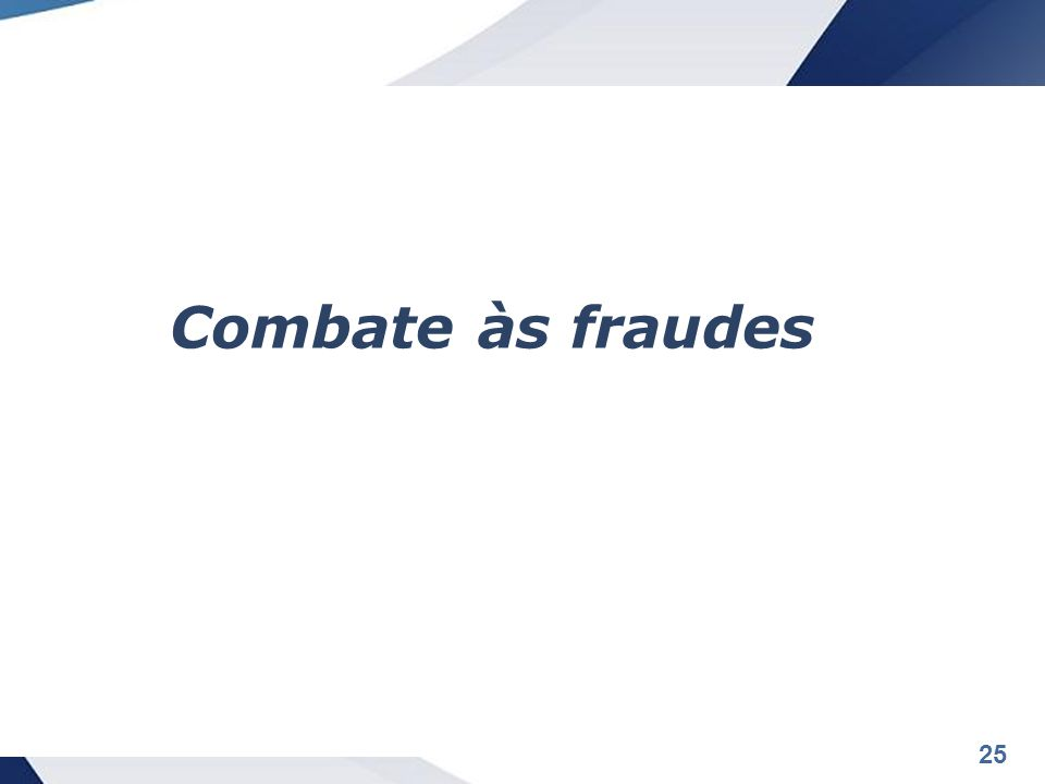 Combate às fraudes