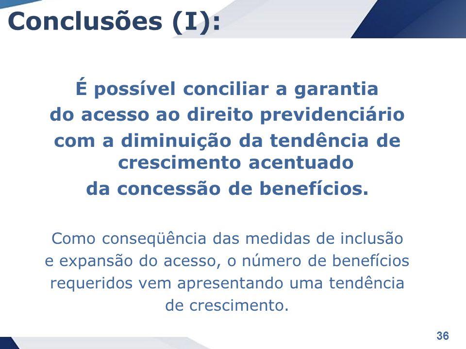 Conclusões (I): É possível conciliar a garantia
