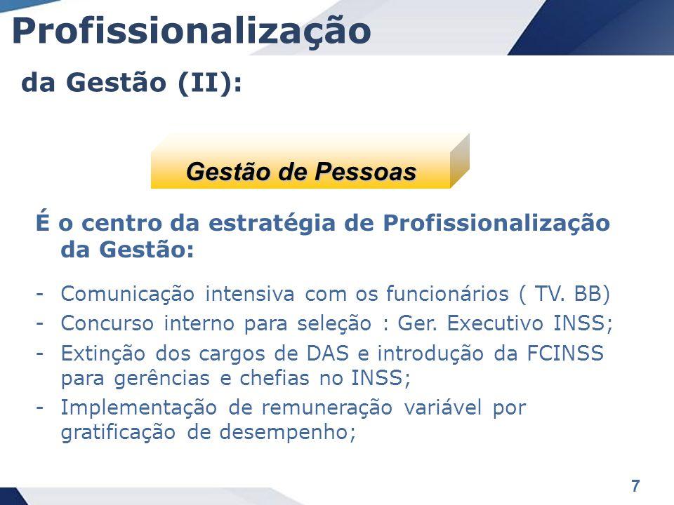 Profissionalização da Gestão (II): Gestão de Pessoas