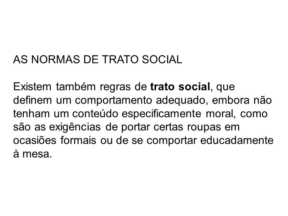 AS NORMAS DE TRATO SOCIAL
