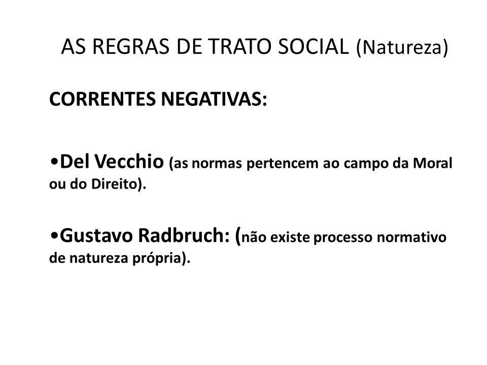 AS REGRAS DE TRATO SOCIAL (Natureza)