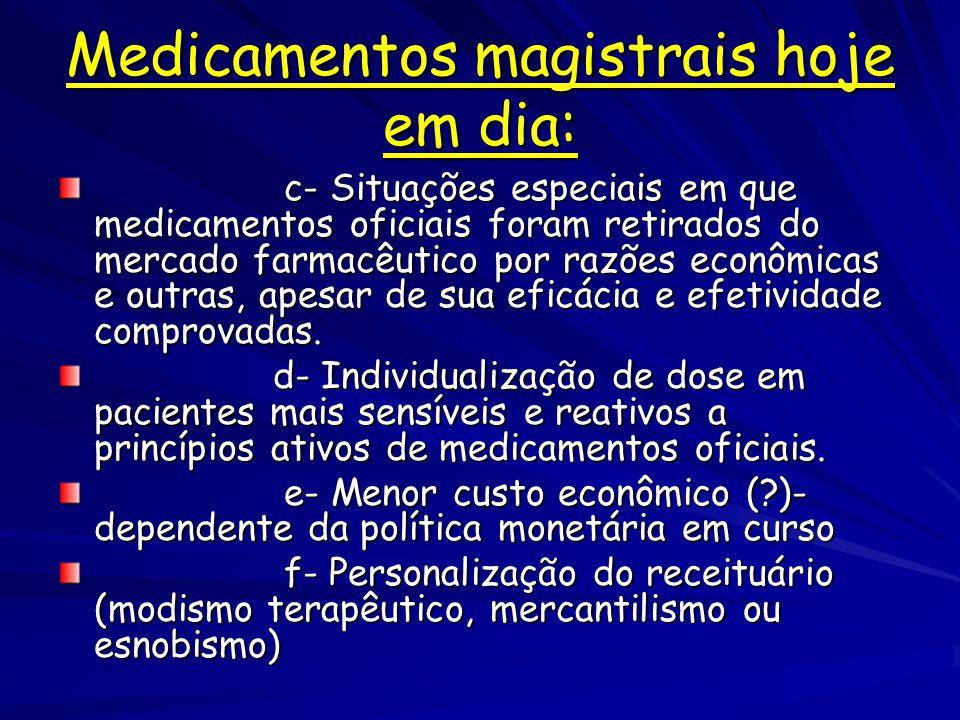 Medicamentos magistrais hoje em dia: