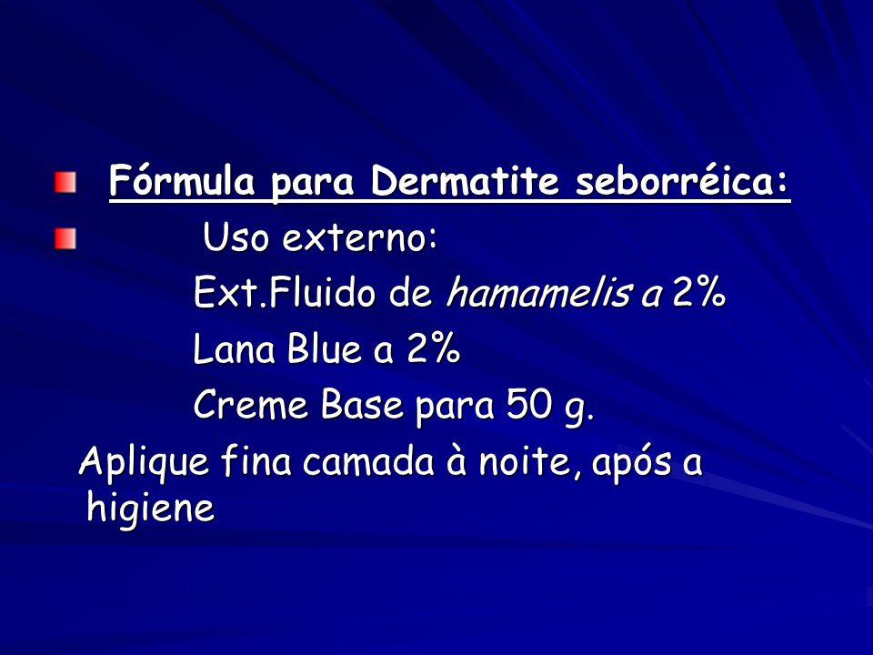Fórmula para Dermatite seborréica: