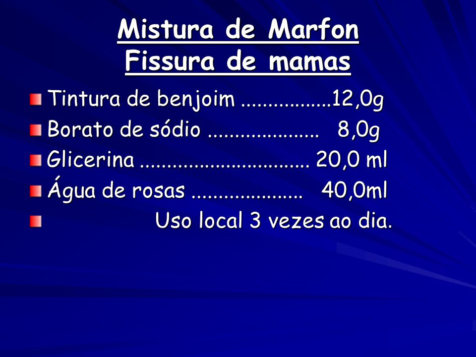 Mistura de Marfon Fissura de mamas