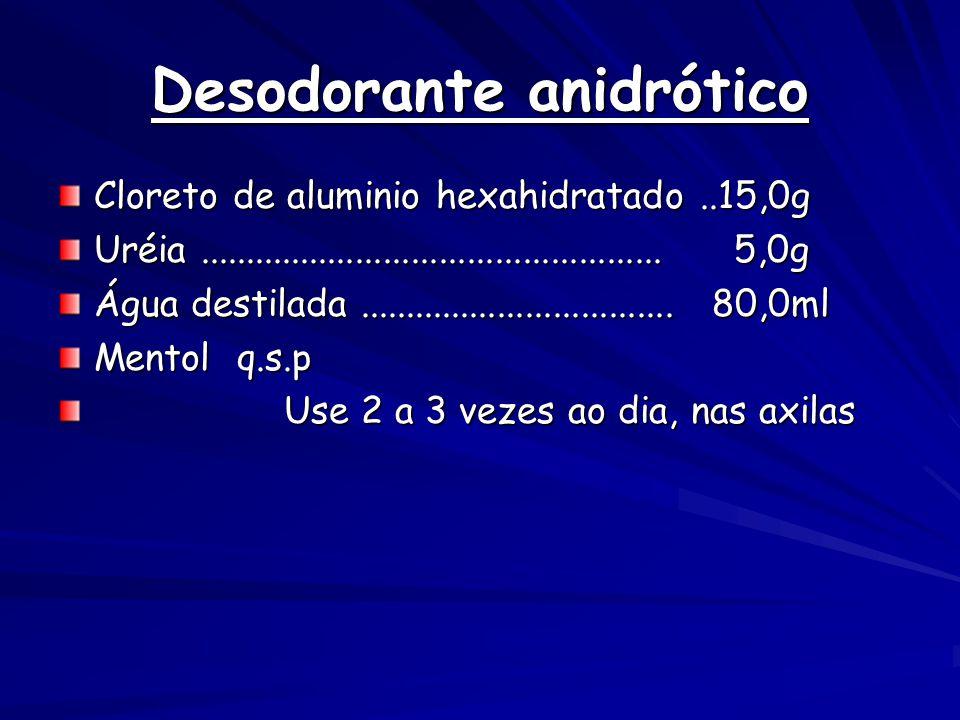 Desodorante anidrótico