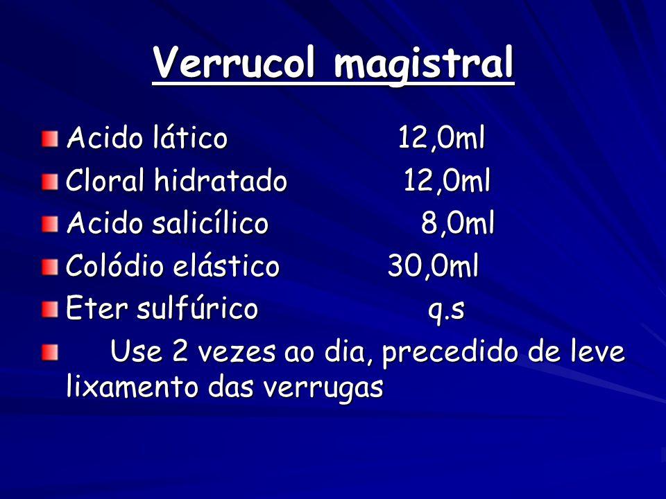 Verrucol magistral Acido lático 12,0ml Cloral hidratado 12,0ml
