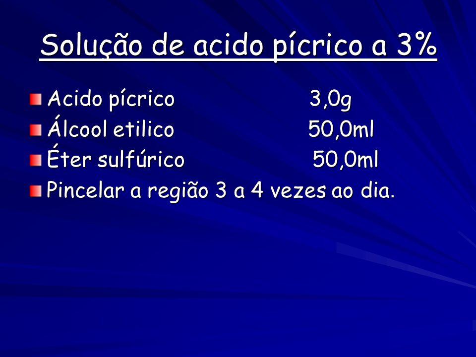 Solução de acido pícrico a 3%