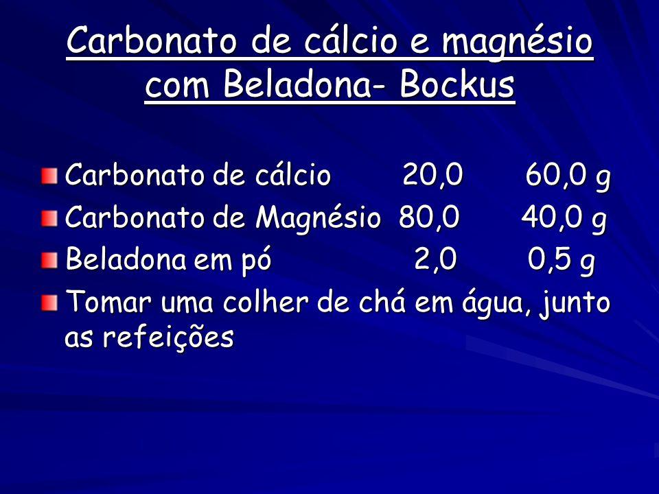 Carbonato de cálcio e magnésio com Beladona- Bockus