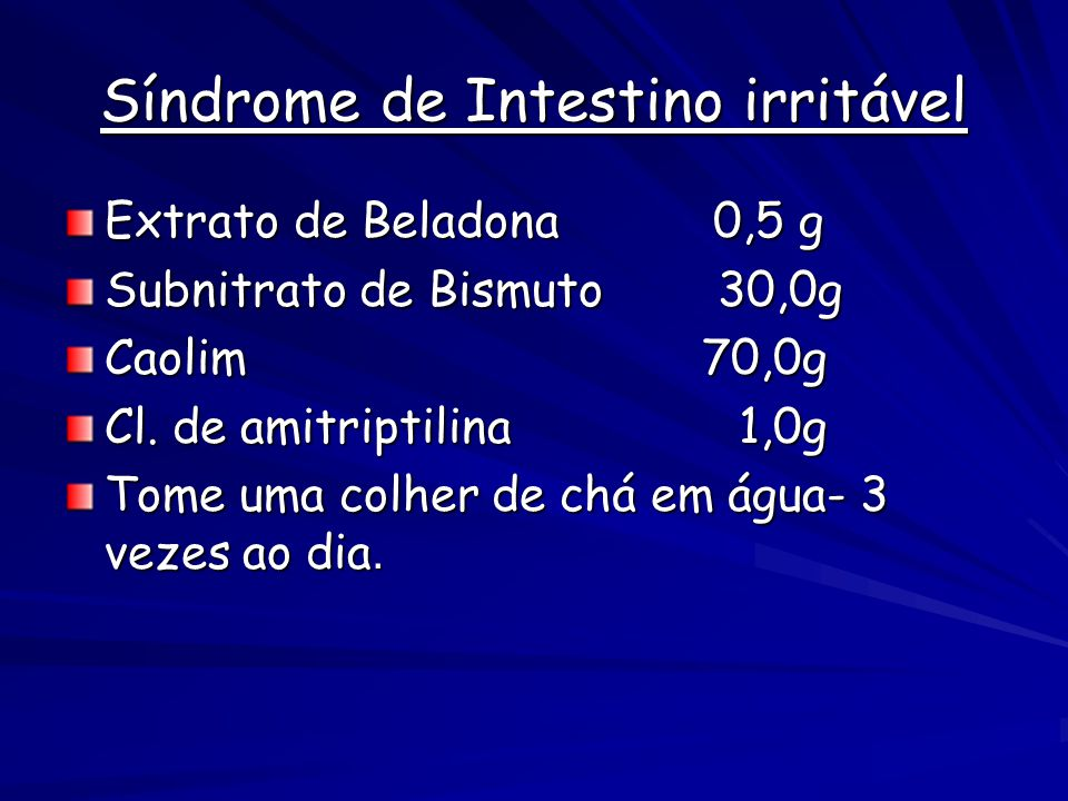 Síndrome de Intestino irritável